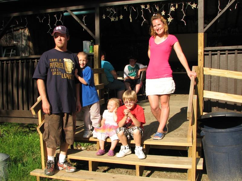 Chili contest winner: John Knapp and family